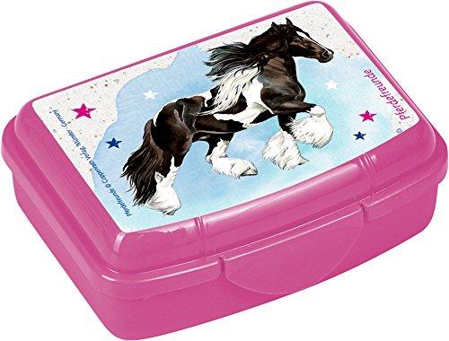 Die Spiegelburg 14729, lunch box/contenitore porta cibo - colazione e merenda a scuola - adatto per bambini - serie: Gli amici dei cavalli - cavallo zingaro