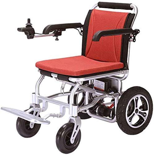 Silla de ruedas eléctrica Silla de ruedas eléctrica de 24V / 12AH batería de 250W de potencia del motor dual potente controlador 360 ° basculante, plegable silla de ruedas eléctrica portátil puede uti