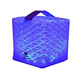 Solight Design Outdoor Solar-Powered Light, Color-Changing LED Lantern - Waterproof, Compact, Portable - SolarPuff Multicolor