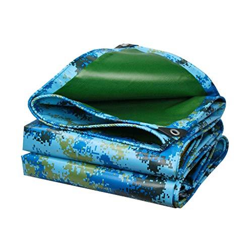 JLWM Lonas Camuflaje, Lona Lona Impermeable Lona Proteccion Con Ojales Impermeable Sombrilla Anti-corrosión Vestir-resistente Para Exterior Coche Caravana-3.8x7.9m