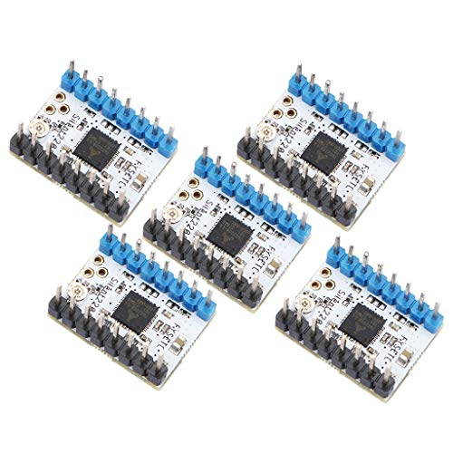 KESOTO Impresora 3D Kit de Accesorios TMC2208 V1.0 Controlador de Módulo de Controlador de Pasos Paso a Paso INKL. Disipador + Destornillador