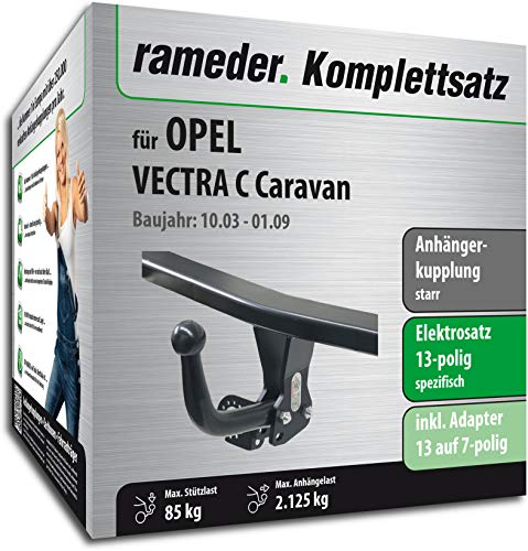 Rameder Komplettsatz, Anhängerkupplung starr + 13pol Elektrik für OPEL Vectra C Caravan (117028-05057-1)