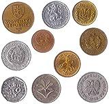 10 Monedas Diferentes Elegidas De Estos Países De Europa del Este: Bielorrusia, Bulgaria, República Checa, Checoslovaquia, Hungría, Polonia, Rumania, Rusia, Rumania, Eslovaquia, Ucrania.