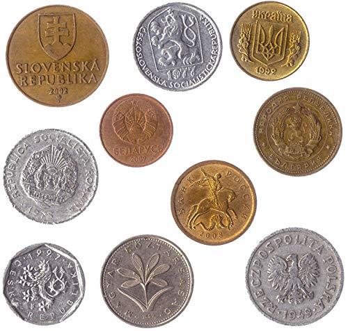 10 Monete Diverse Raccolte Da Questi Paesi Dell'europa Orientale: Bielorussia, Bulgaria, Repubblica Ceca, Cecoslovacchia, Ungheria, Polonia, Romania, Russia, Romania, Slovacchia, Ucraina.
