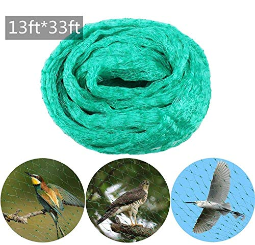 DBWICH Garden Anti Bird Netting, Bird Netting Heavy Duty Protect Plants and Fruit Trees, Reusable Fencing Mesh, Farm Ponds Covers Cultivation Netting (13ft×33ft)