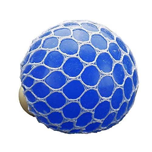 NIDONE Fidget Juguetes del Alivio de tensión sensoriales de Juguetes Blandos de Malla Bolas para Adultos Autismo niños de la Escuela Oficina Light Blue