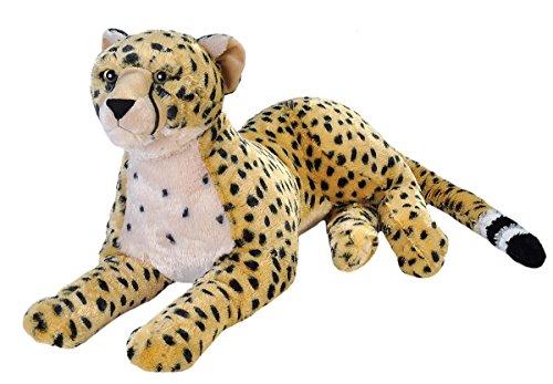 Wild Republic 18078 19553 Jumbo Plüsch Gepard, großes Kuscheltier, Plüschtier, Cuddlekins, 76 cm