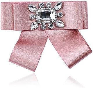 CBCJU Broche Corto de Moda con Pajarita de Tela de Diamantes Pajarita 10 * 12 cm