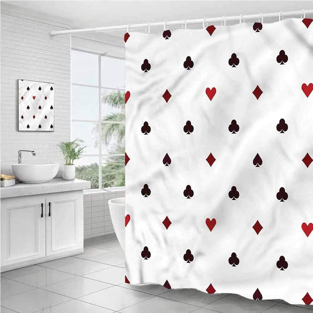 StarsART Sacramento Mall Genuine Shower Curtains for Kids W65 Minimalist Club x Gambling