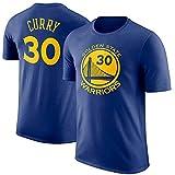 Camiseta De Baloncesto para Hombre Golden State Warriors Stephen Curry MVP Manga Corta Ropa para Jóvenes Sudadera S-XXXL Azul Blue-M