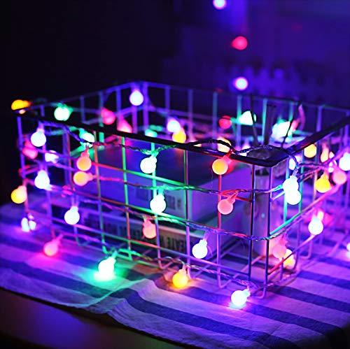 Mehrfarben Globus Lichterketten, 6M 40Pcs LED Batteriebetriebene Lichterketten, Shining Decoration Lightning für Valentinstag Weihnachten Geburtstag Holiday Party Schlafzimmer Indoor & Outdoor