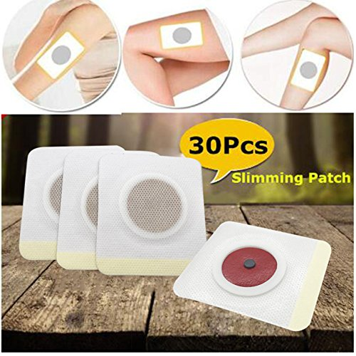 World2Home 30Pcs Traditional Chinese Medicine Anti Cellulite Weight Loss Slim Patches Navel Stick Health Care