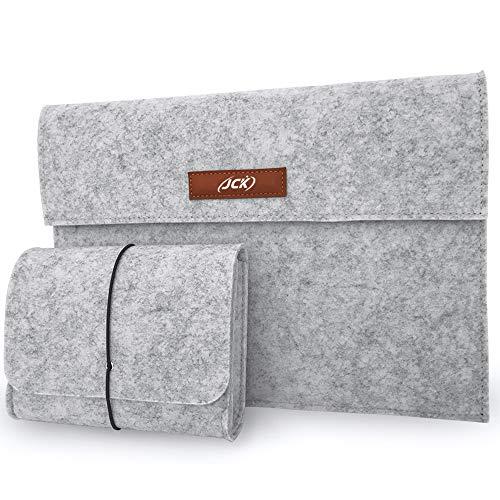 "JCK Funda Portátil Compatible con 13,3"" Notebook Tableta iPad Tab, Funda Protectora para Macbook Air/Pro, MacBook Pro de 13"", 12.3 Surface Pro, Surface Laptop, 12.9"" iPad Pro, XPS 13, Gris Claro"