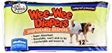 Four Paws Wee-Wee Medium Disposable Doggie Diapers, 12 Pack