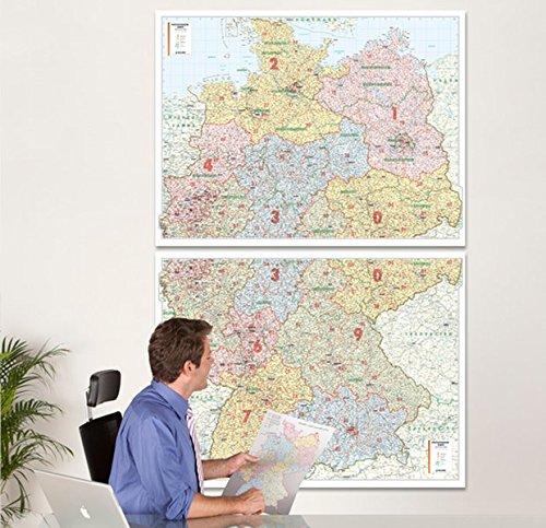 BACHER Postleitzahlenkarte Deutschland, Maßstab 1:500 000, Papierkarte gerollt, folienbeschichtet: Die Postleitzahlenkarte Deutschland beinhaltet 1- ... bei jedem kartographisch erfassten Ort.