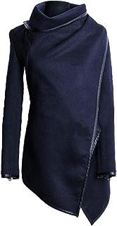 KINDOYO Women's Irregular Coat - Unique Irregular Bow Long Warm Coat Jacket Overcoat