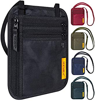 Slim Minimalist Design RFID Blocking Travel Neck Wallet
