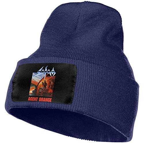 Lsjuee KennedyF Sodom Agent Orange Skull Sombreros Gorra Con Puños Llanura Skull Knit Hat Gorra Azul Marino