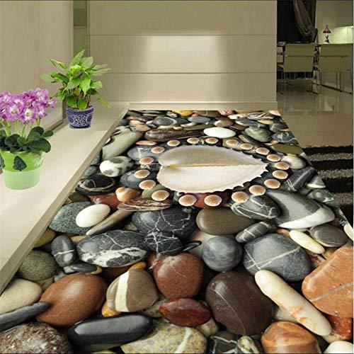 Benutzerdefinierte Boden Befestigt Zimmer Lotte Badezimmer 3D Kopfsteinpflaster Meereslebewesen Boden Wasserdichte Verteidigung Von 3D-Bodenfolie