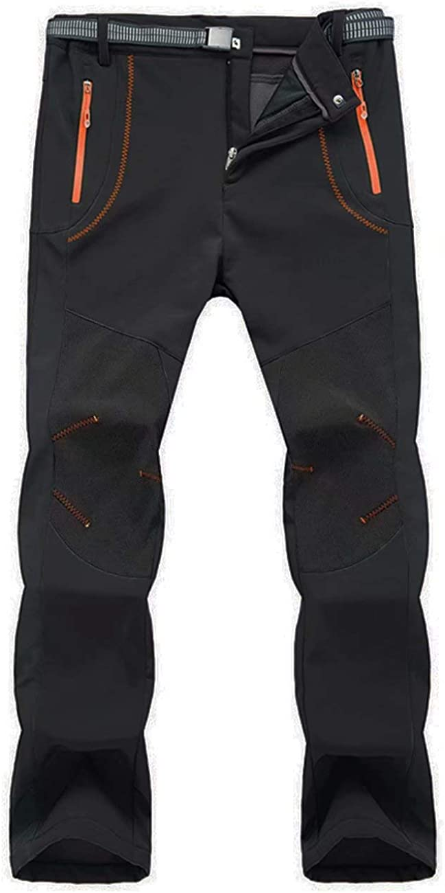 Snowboarding MAGCOMSEN Mens Winter Snow Pants Color Block Water Resistant Fleece Lined Pants for Hiking Skiing