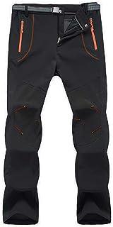 MAGCOMSEN Men's Winter Snow Pants Color Block Water Resistant Fleece Lined Pants for Hiking, Skiing, Snowboarding