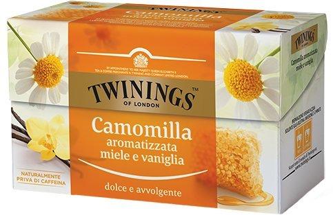 20 unidades de manzanilla Twinings aromatizada miel y vainilla. Paquete de 20 bolsitas de 1,5 g.