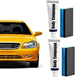 Car Flawless Care Set, 2pcs Multipurpose Car Scratches Repair Wax, Car Body Grinding Compound, Car Scratch Removal Kit, for Car Surface Scratch Repair
