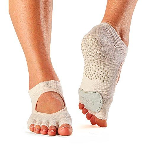 Toesox Half Toe Plie Yoga-Socken, beige (Sweetpea), M