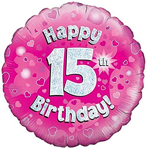 Oaktree UK Ballon Gonflable Rose âgé de 15 Ans (Non gonflé).