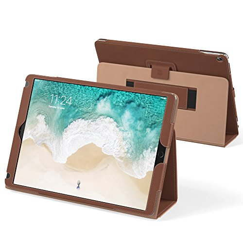 """Snugg iPad Air 3 (2019) / iPad 10.2"""" (8th & 7th Gen) / iPad Pro 10.5"""" Leather Case, Flip Stand Protective Cover - Distressed Brown"""