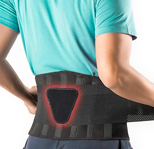 FEATOL Back Brace Support Belt-Lumbar Support Back Brace for Lifting,Back Pain, Sciatica, Scoliosis,...