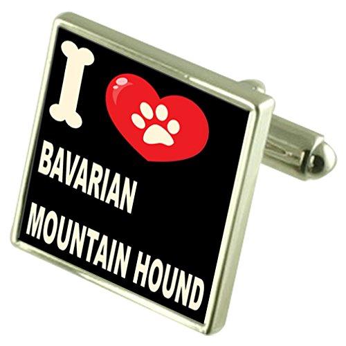 Select Gifts Argento 925 gemelli & Bond denaro Clip - io amo bavarese il Segugio di montagna
