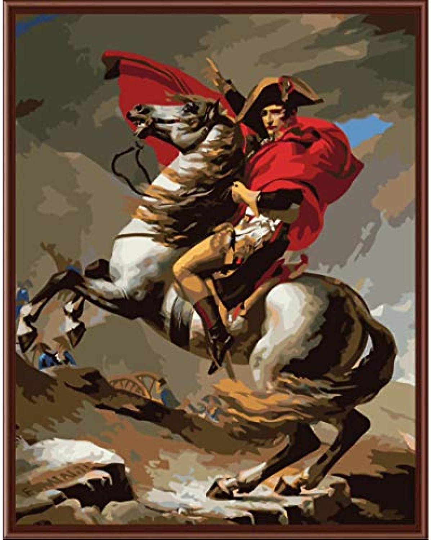 Superlucky Bilder Malen nach Zahlen handgemalte leinwand Zeichnung DIY ölgemälde nach Zahlen Napoleon Framed 40x50cm B07K8NZFVS | Billig