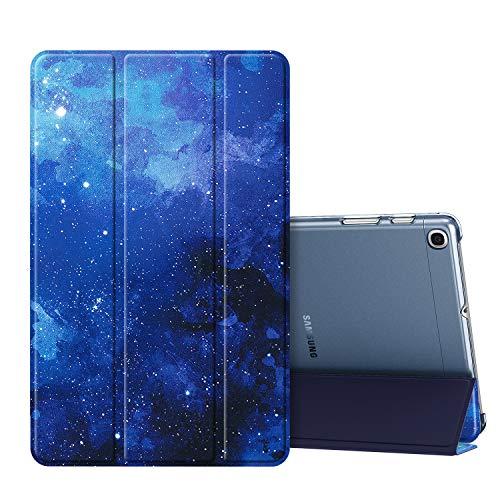Fintie hoes case voor Samsung Galaxy Tab A 10,1 SM-T510/T515 2019, ultradunne beschermhoes met transparante achterkant cover voor Samsung Galaxy Tab A 10.1 inch 2019 tablet, Starry Sky