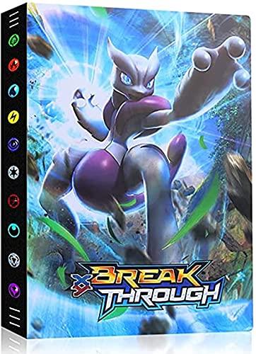 Classeur Compatible Avec Cartes Pokemon, Porte Album Titulaire Compatible Avec Cartes Pokemon, 24 pages - peut contenir 432 cartes (XY-3D-Mewtwo)