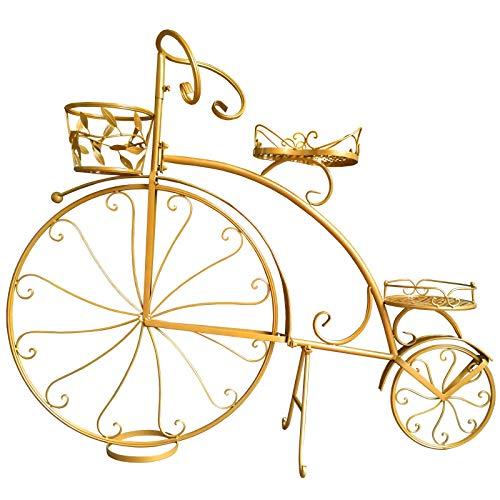 aasdf Soporte de Metal para Plantas, macetas para macetas, Soportes para Bicicletas, Interior y Exterior, Hierro Forjado, macetero para Bicicletas, Soporte para Flores, decoración de Patio de Jard