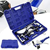 Tube Bender Kit, CT-999RF Refrigeration Ratcheting Tubing Benders Air Condition Copper Pipe Bending Machine, Tube Bender for Bathroom, Heating, Air Conditioning, Refrigeration, Hydraulic Zone