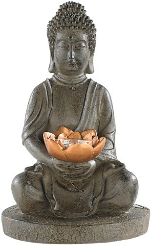 Lunartec Solar Budda: Solar-LED Deko Lampe Buddha für Garten & Terrasse, 28 cm (Buddha Figur)