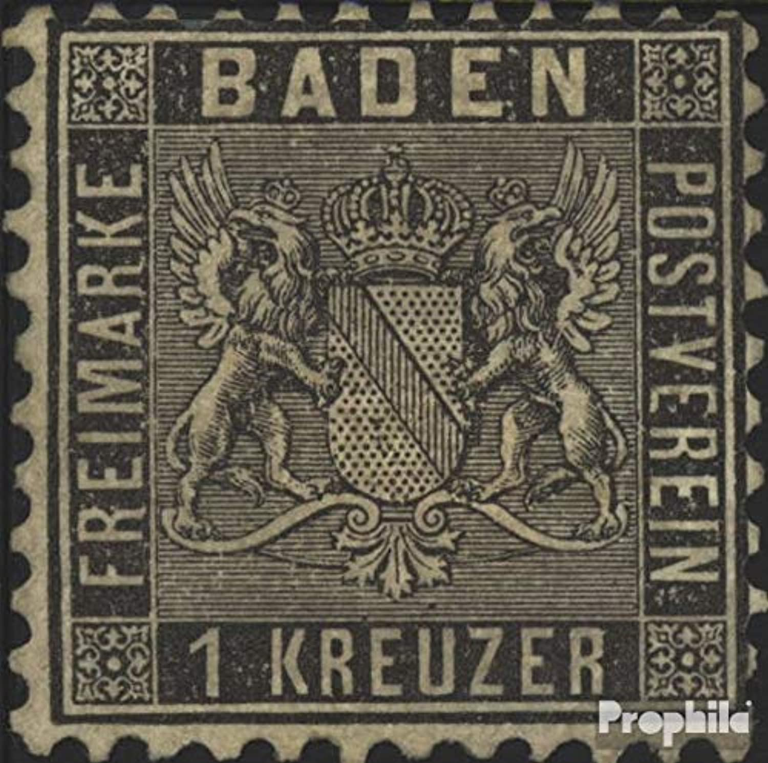 Baden 13a Fine (BQuality) 1860 Crest (Stamps for collectors)