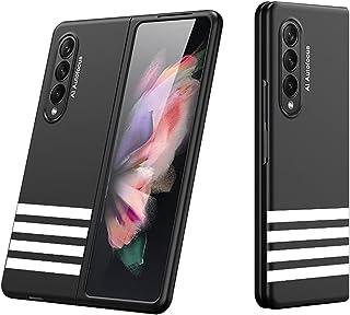 سامسونج جالاكسى زد فولد 3 (Samsung Galaxy Z Fold 3) كفر 360 درجة جيه كيه كيه قطعتين الترا ثن+رسومات2 - (أسود)