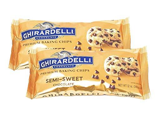 Ghiradelli Semi Sweet Premium Baking Chocolate Chips-12 oz (2 pack bundle)