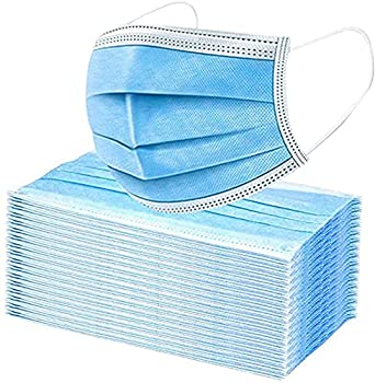 Premium Pack of 100 Single Use Disposable Face Mask Effective Filtration Soft on Skin Bulk Pack 3-Ply Masks Facial Cover with Elastic Earloops For Home Office School and Outdoors  100 Pack Blue