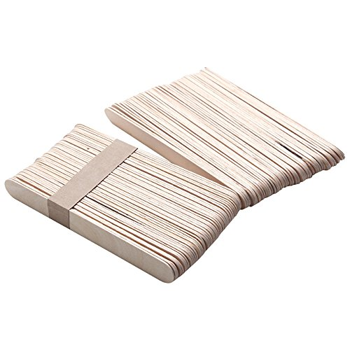 Fletion 100piezas espátulas cera madera varillas
