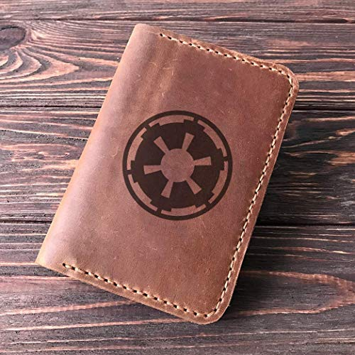Star Wars Passport Holder Galactic Empire, Leather Passport Cover For Men, Handmade Personalized Passport Wallet, Gift for Traveler, Passport Case, Gift for Him, Boyfriend Gift, Crazy Horse Leather