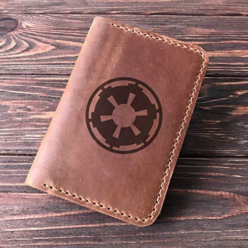 Star Wars Passport Holder Galactic Empire, Leather Passport Cover For Men, Handmade Personalized Passport Wallet, Gift for Traveler, Passport Case, Gift for Him, Boyfriend Gift, Crazy Horse Leather