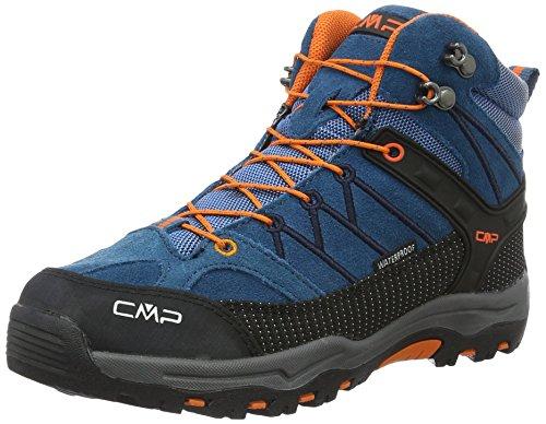 CMP Rigel, Stivali Da Escursionismo Alti Unisex – Bambini, Blu (Denim L580_11), 34