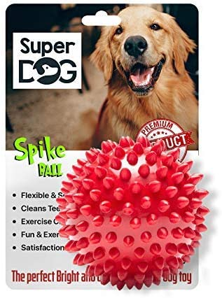 Super Dog Spiked Rubber Dog Ball (Color May Vary)… product image