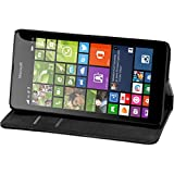 PhoneNatic Kunst-Lederhülle kompatibel mit Microsoft Lumia