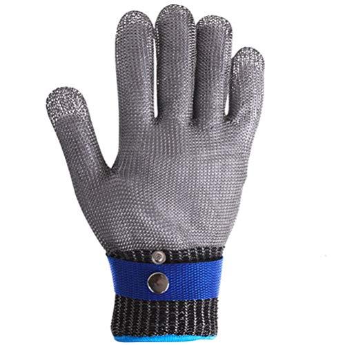Schnittfeste Handschuhe-XHZ Einzelne 361L Edelstahldrahthandschuhe, schnittfestes Metall, zum Fangen von Fischen, Schneiden, Schneiden von Gemüse und Schweißen von Fünf-Finger-Handschuhen.