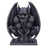 Nemesis Now Dark Black Grotesque Gargoyle Figurine Adalward-Figura de gárgola grotesca, Color Negro Oscuro, 26 cm
